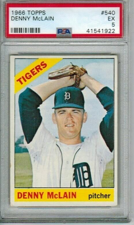 1966 Topps #540 Dennis McLain PSA 5