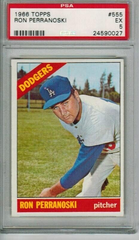 1966 Topps #555 Ron Perranoski PSA 5