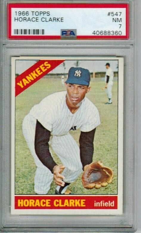 1966 Topps #547 Horace Clarke rookie PSA 7