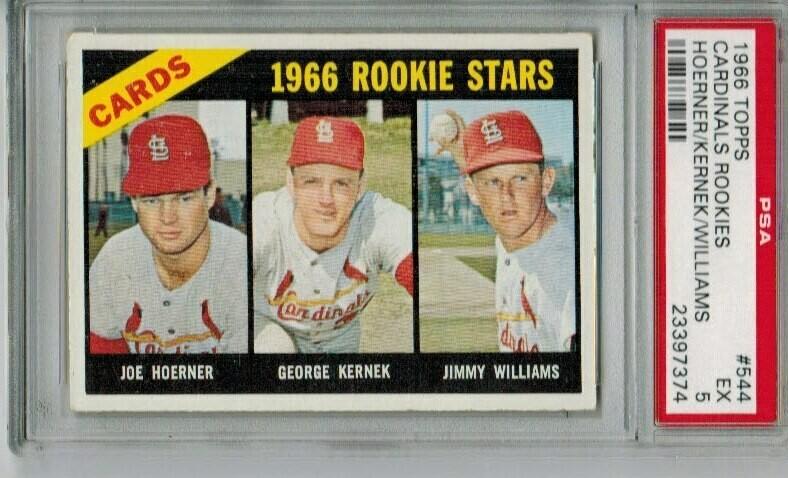 1966 Topps #544 Cardinals rookie Stars PSA 5