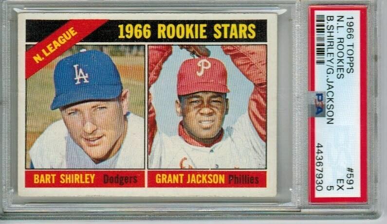 1966 Topps #591 Grant Jackson rookie PSA 5