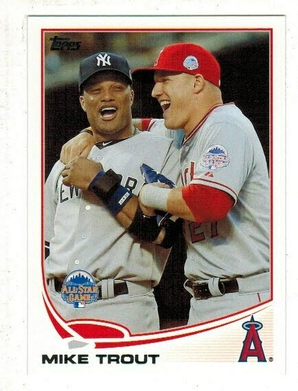 2013 Topps #27 Mike Trout With Cano