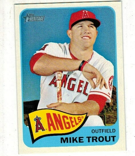 2014 Topps Heritage #250 Mike Trout