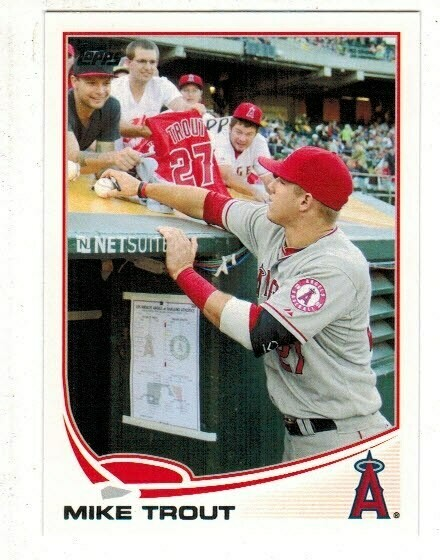 2013 Topps #27 Mike Trout Signing
