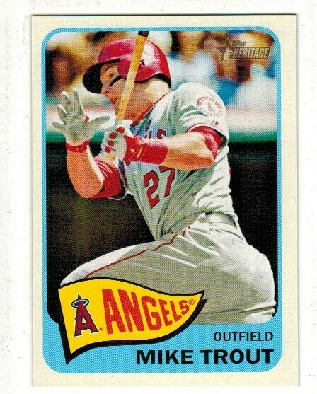 2014 Topps Heritage #250 Mike Trout Action