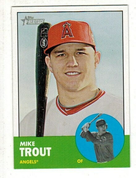 2012 Topps Heritage #207 Mike Trout