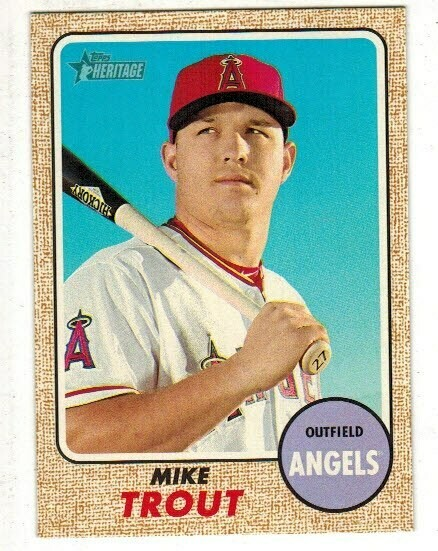 2017 Topps Heritage #450 Mike Trout