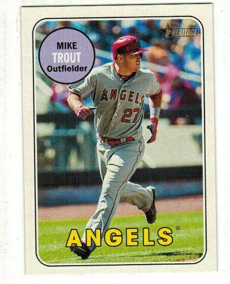 2018 Topps Heritage #275 Mike Trout Action