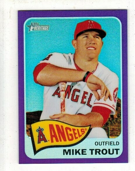 2014 Topps Heritage #250 Mike Trout Purple Refractor