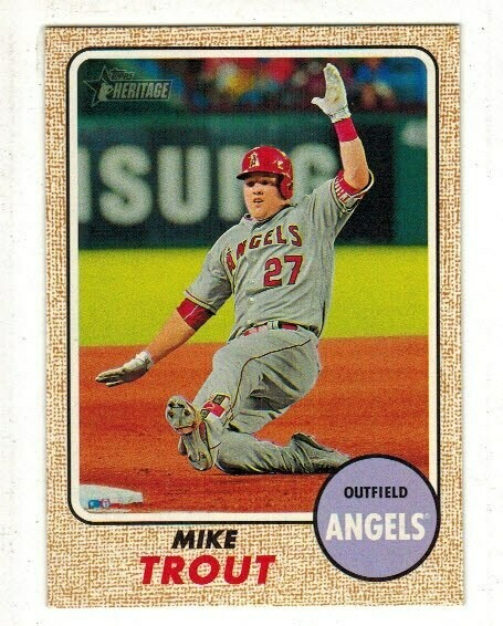 2017 Topps Heritage #450 Mike Trout Action;  Well Centered