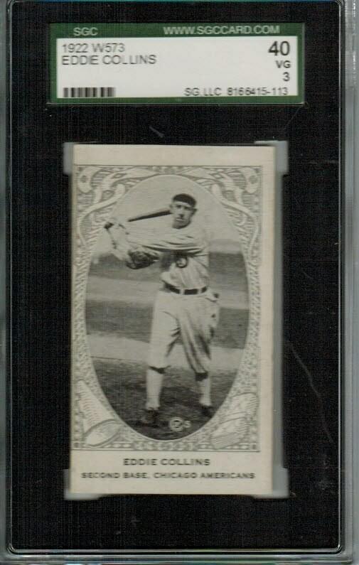 1922 W573 Eddie Collins SGC 3