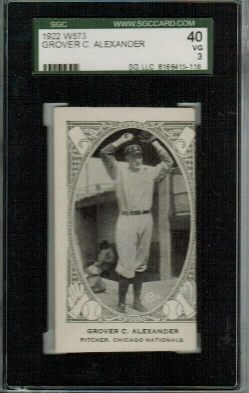 1922 W573 Grover Cleveland Alexander SGC 3