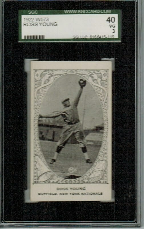 1922 W573 Ross Young SGC 3