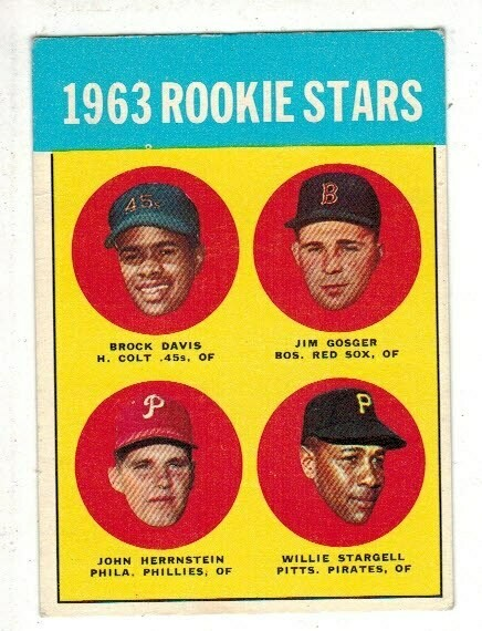 1963 Topps #553 Willie Stargell rookie list $400