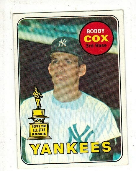 1969 Topps #237 Bobby Cox rookie list $60