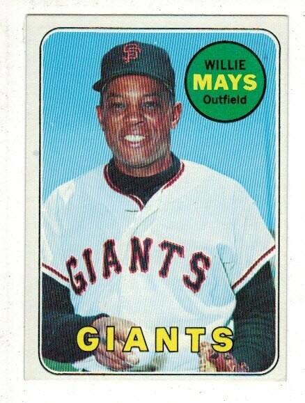 1969 Topps #190 Willie Mays list $150