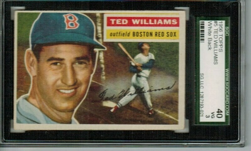 1956 Topps #5 Ted Williams SGC 3