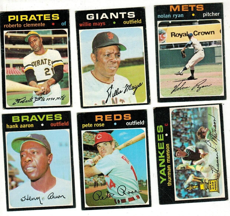 1971 Topps Baseball Complete set VG/Ex list $3,000