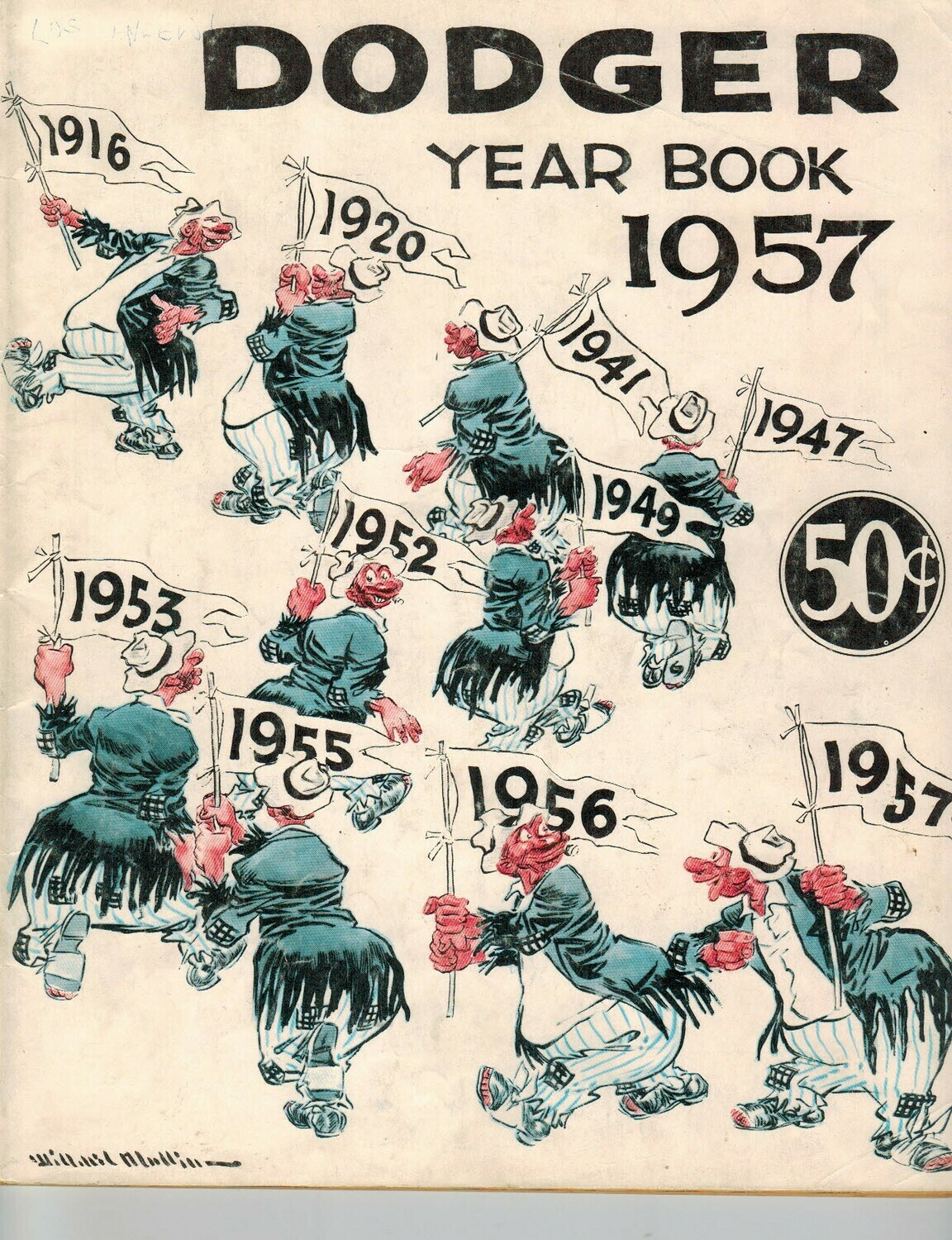 1957 Brooklyn Dodgers Official Yearbook