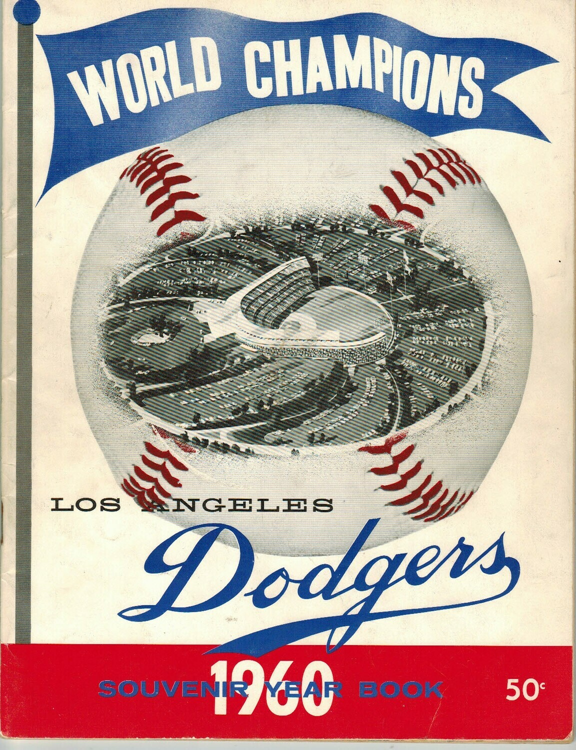 1960 Los Angeles Dodgers Official Yearbook