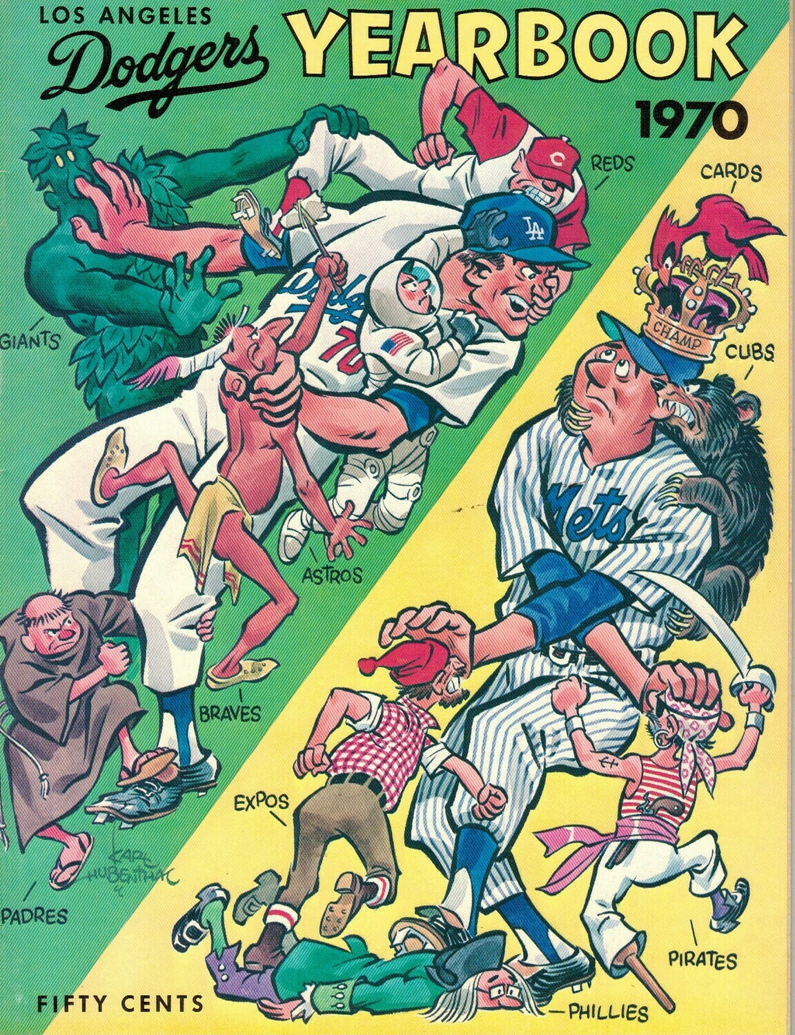 1970 Los Angeles Dodgers Official Yearbook