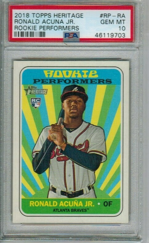 Ronald Acuna Jr. rookie PSA 10 2018 Topps Heritage Rookie Performers