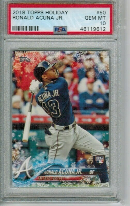 Ronald Acuna Jr. rookie PSA 10 2018 Topps Holiday #50