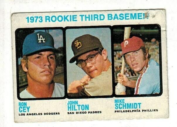 1973 Topps #615 Mike Schmidt rookie list $300 Poor