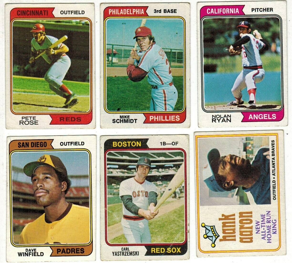 1974 Topps Baseball set VG/EX list $800