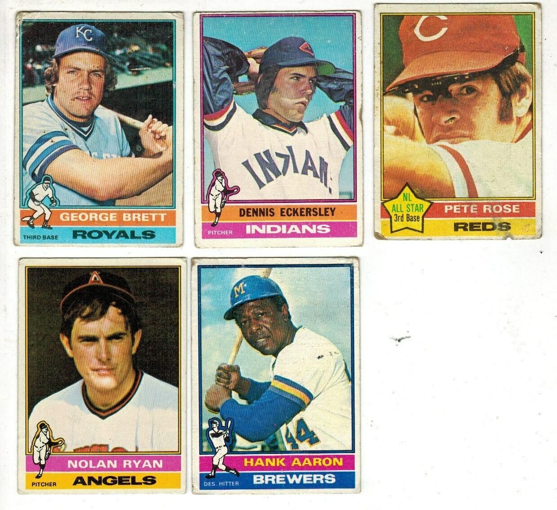 1976 Topps Baseball set VG or less list $600
