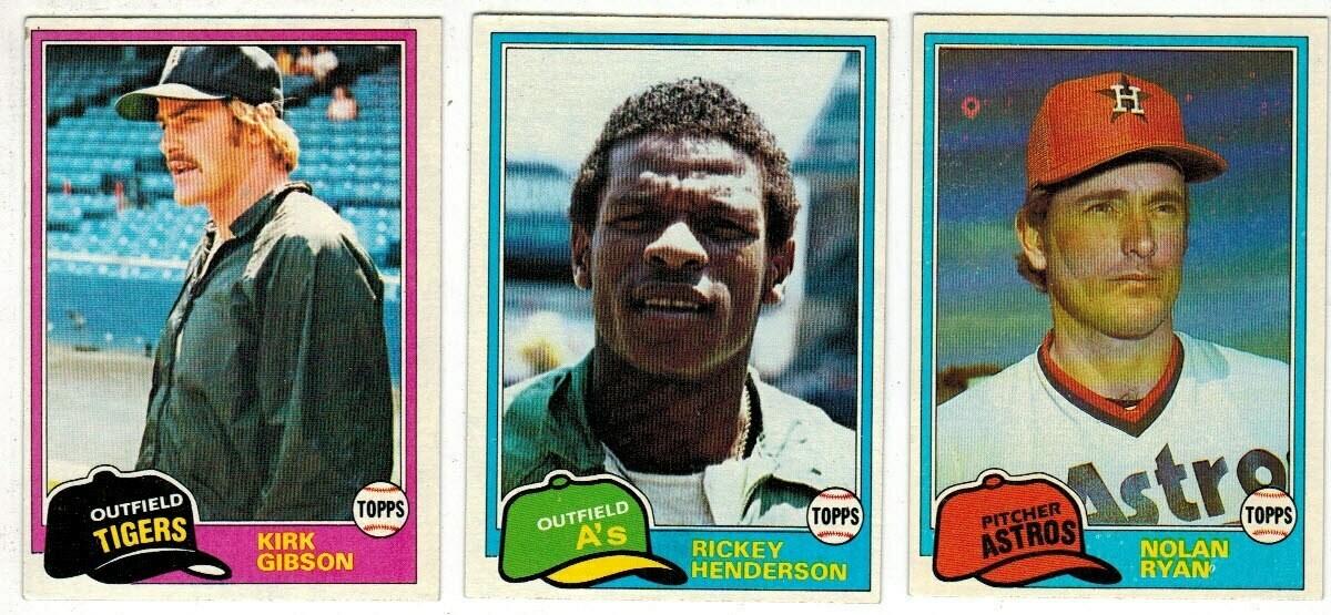 1981 Topps Baseball Set Nr Mint