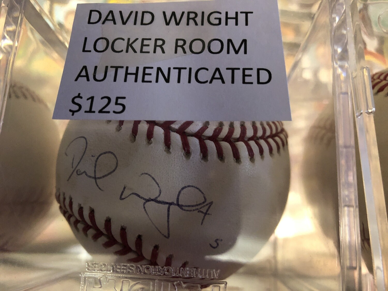 David Wright Signed ball Locker Room Authenticated