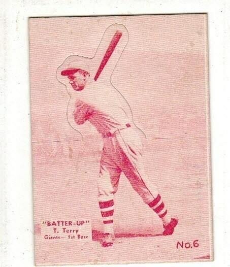 1934 Batter Up #6 Bill Terry