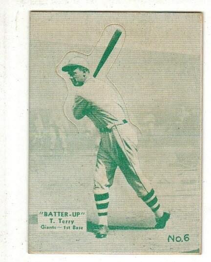 1934 Batter Up #6 Bill Terry Green