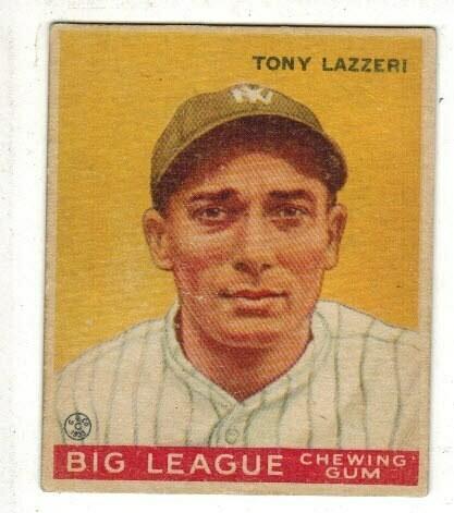 1933 Goudey #31 Tony Lazzeri rookie list $800