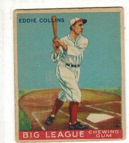 1933 Goudey #42 Eddie Collins rookie list $300