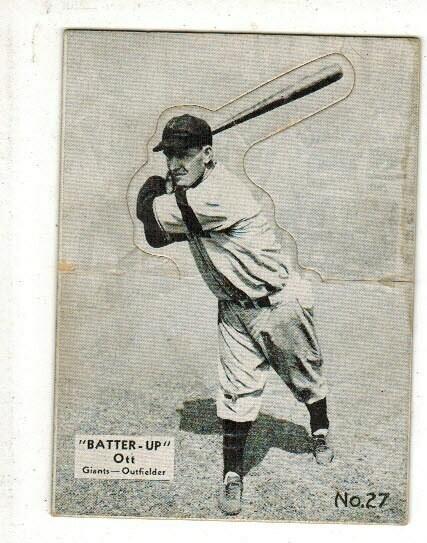 1934 Batter Up #27 Mel Ott