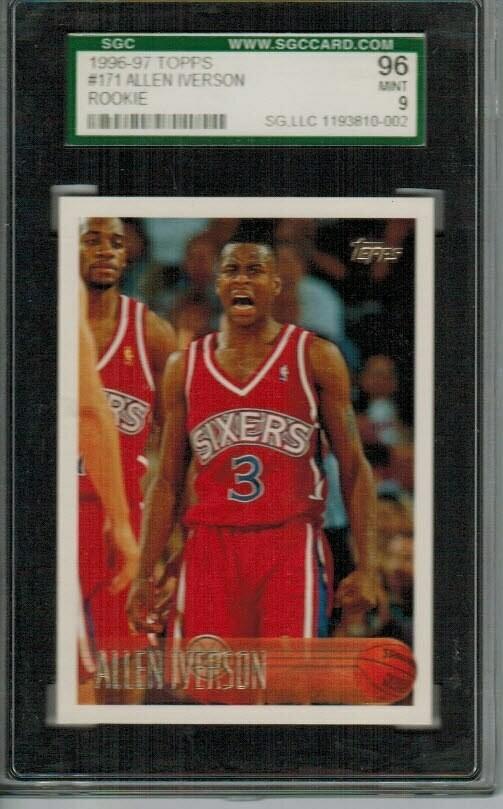 1996 Topps Allen Iverson rookie SGC 9