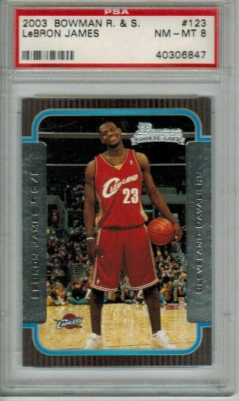 2003/04 Bowman Lebron James rookie PSA 8