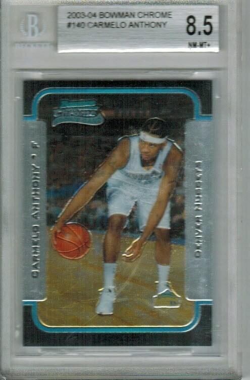 2003/04 Bowman Chrome Carmelo Anthony rookie Beckett 8.5