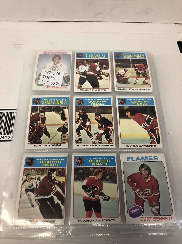 1975/76 Topps Hockey Complete Set Near Mint