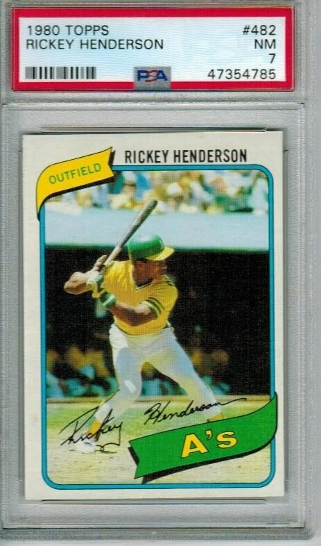 1980 Topps #482 Rickey Henderson rookie PSA 7