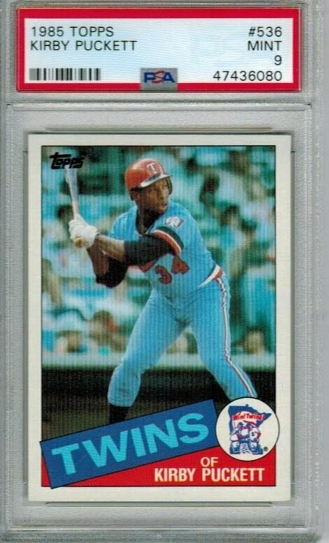 1985 Topps Kirby Puckett rookie PSA 9