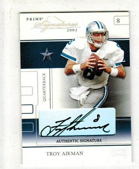 2002 Playoff Prime Troy Aikman  Autographed card