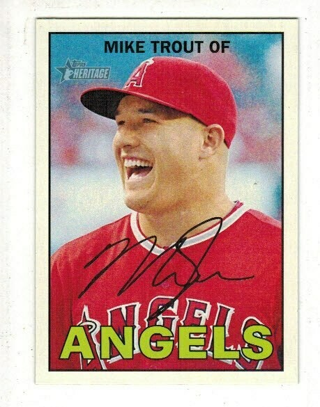 2016 Heritage #50 Mike Trout Well Centered