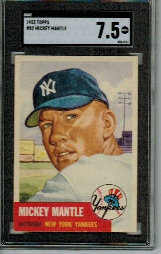 1953 Topps #82 Mickey Mantle SGC 7.5 Spectacular!