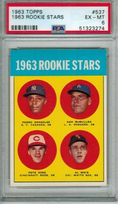 1963 Topps #537 Pete Rose rookie PSA 6 Centered!