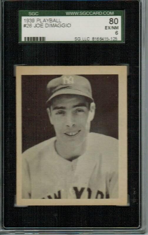 1939 Playball #26 Joe Dimaggio SGC 6
