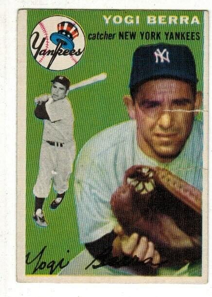 1954 Topps #50 Yogi Berra list $250