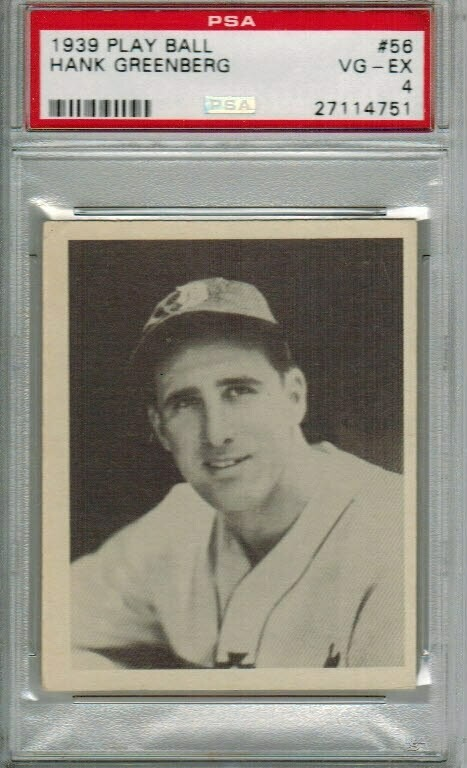 1939 Playball #56 Hank Greenberg PSA 4